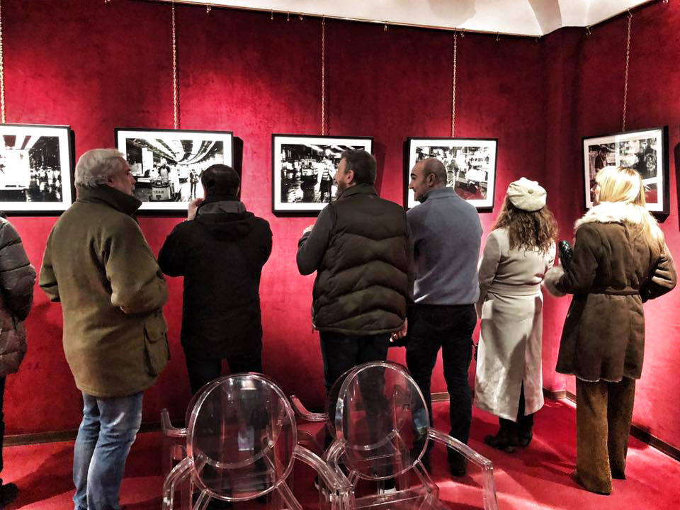 "Inside the Bologna exhibition for ""Tokyo Tsukiji"" by Nicola Tanzini at Paoletti Foto's exhibition space."